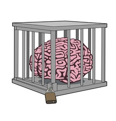 Caged mind vector