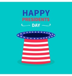Big hat with stars and strip presidents day vector