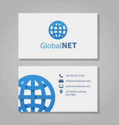 Global corporation business card vector