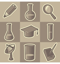 Monochrome science icons vector