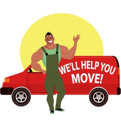 Professional mover vector
