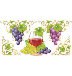 Grape elements vector