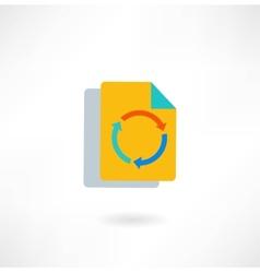 Paper arrow icon vector