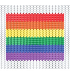 Knitted rainbow flag vector