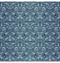 Dark blue baroque pattern vector