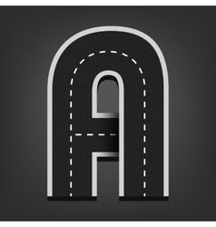 A letter road font vector