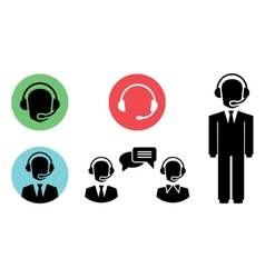 Call center icons vector
