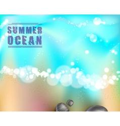 Sea stones and ocean vector