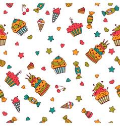 Happy birthday seamless pattern hand drawn vector
