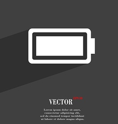 Battery fully charged icon symbol flat modern web vector
