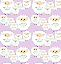 Seamless sheep pattern4 vector