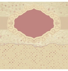 Vintage filigree card vector
