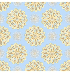 Blue ethnic seamless pattern vector