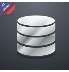 Hard disk and database icon symbol 3d style trendy vector