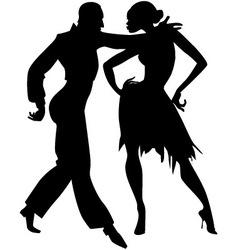 Samba silhouette vector