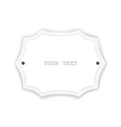 Just white isolated signboard vector
