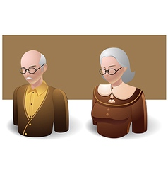 People icons old man and old women vector