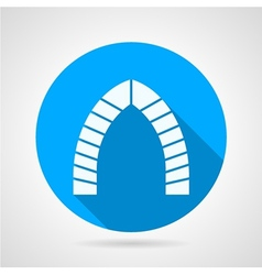 Flat round icon for brick lancet arch vector