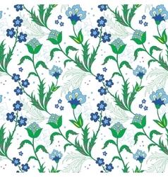 Turkish field flowers seamless pattern vector