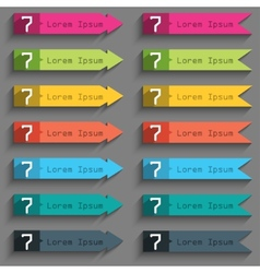 Number seven icon sign set of coloured buttons vector