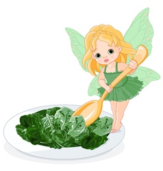 Spinach fairy vector