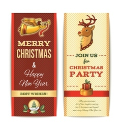 Christmas banner vertical vector