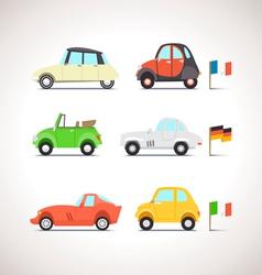 Car flat icon set 8 vector