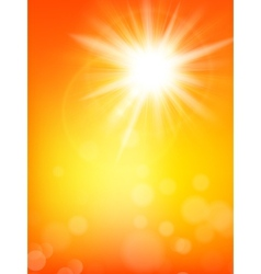 Summer sun burst with lens flare eps 10 vector