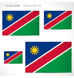 Namibia flag template vector