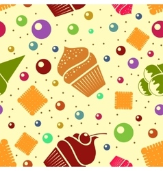 Seamless dessert background eps10 vector