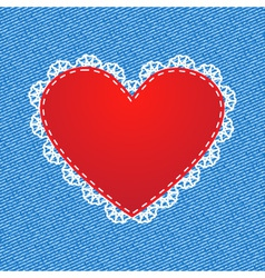 Red silk heart vector