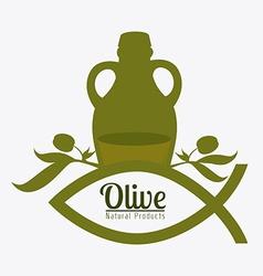 Olive oil design vector