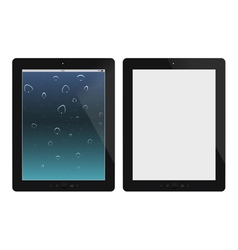 Two tablet pc on white background vector