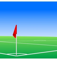 A football pitch corner flag vector