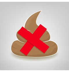 Clean up after your pet sign with crossed poo vector