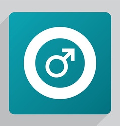Flat male sign icon vector