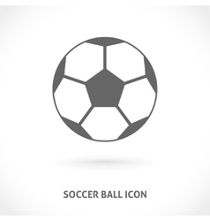 Soccer ball symmetry centered icon vector
