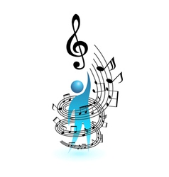 Music concept people vector
