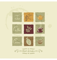 Beverages elements set vector