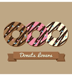 Donuts lovers vector