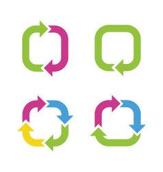 Colorful cycle arrows vector