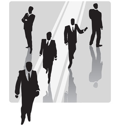 Businessman with security team vector