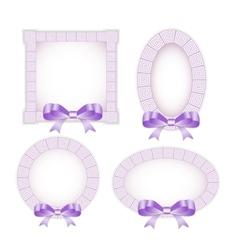 Ethnic frame ornamental vector