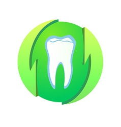 Logotype with healthy teeth vector