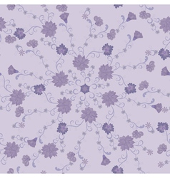 Pattern of lilac flowers vector