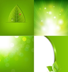Eco green leaf banners vector