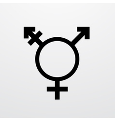 Modern transgender symbol on white vector