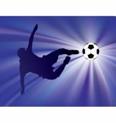 Football strike vector