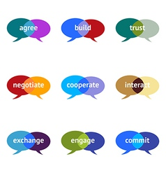 Dialogue balloons vector