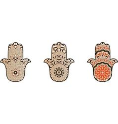 Set of hamsot vector